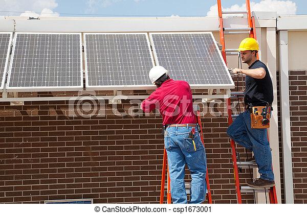Installing Solar Panels - csp1673001