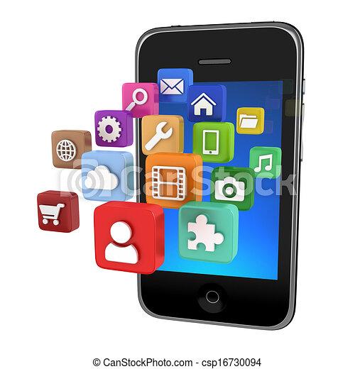 Stock Illustration of Smartphone App icons