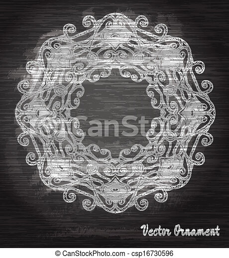 Vintage vector pattern.Chalk board. Hand drawn abstract background. Decorative retro banner.  Can be used for banner, invitation, wedding card,  scrapbooking and others. Royal vector design element. - csp16730596