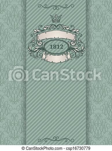 Vintage banner. Template certificate, diploma. Elements of retro design. - csp16730779