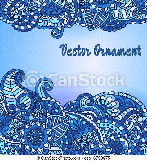 Vintage vector pattern. Hand drawn abstract background. Decorative retro banner.  Can be used for banner, invitation, wedding card,  scrapbooking and others. Royal vector design element. - csp16730975