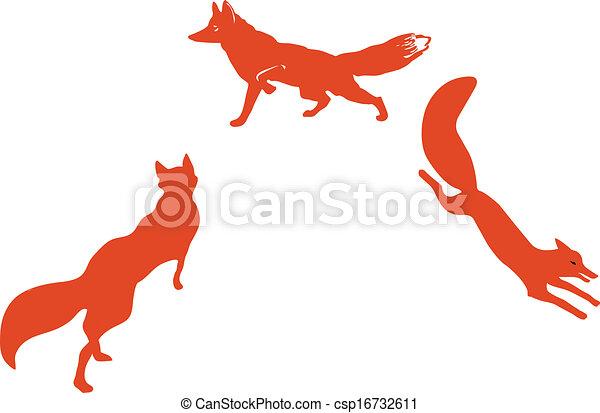 Clip art vecteur de rouges renards renard silhouette - Clipart renard ...
