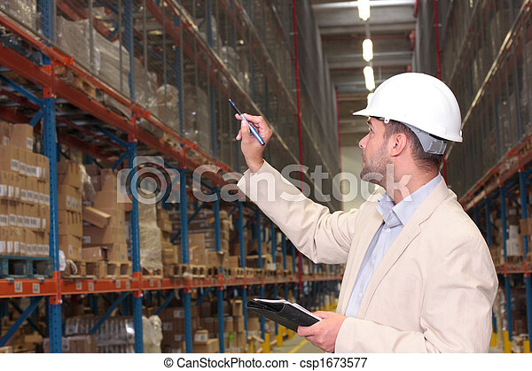 worker counting stocks - csp1673577