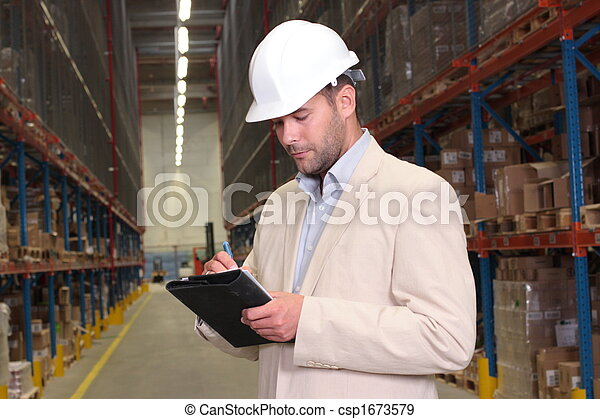 worker counting stocks - csp1673579