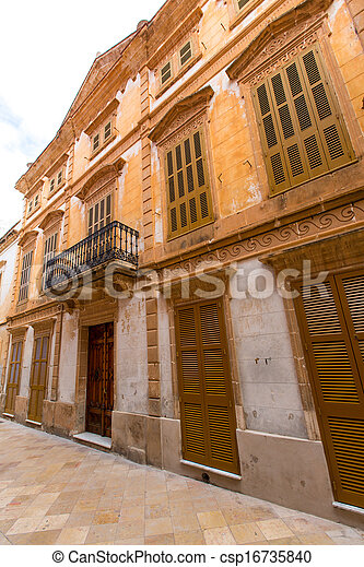 Ciutadella Menorca historic downtown in Ciudadela - csp16735840