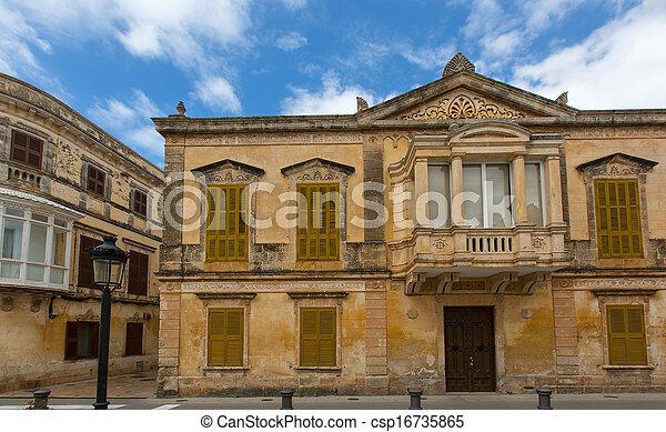 Ciutadella Menorca historic downtown in Ciudadela - csp16735865