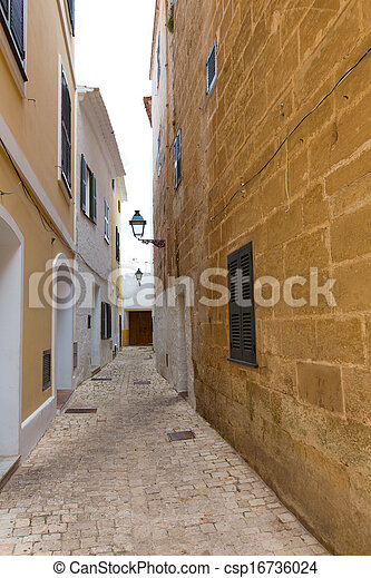 Ciutadella Menorca historic downtown in Ciudadela - csp16736024
