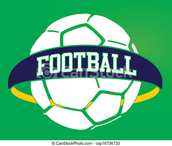 brazilian football retro style vector art - csp16736733