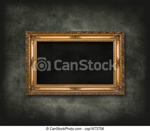 Antique carved frame - csp1673756