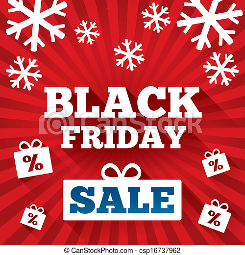 Black Friday Sale background. Christmas background - csp16737962