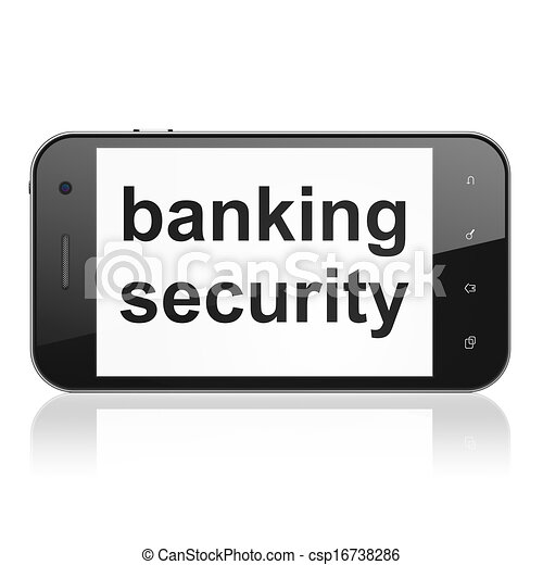 Security concept: Banking Security on smartphone - csp16738286