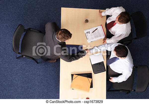 job interview - three business men meeting 1 - csp1673829