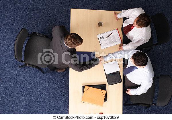 job interview - three business men meeting 1 - csp1673829