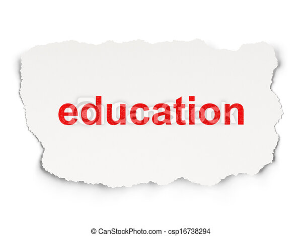 Education concept: Education on Paper background - csp16738294