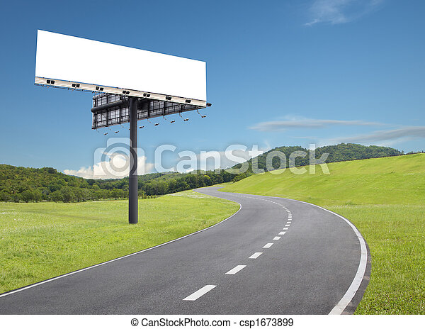 billboard by the road - csp1673899