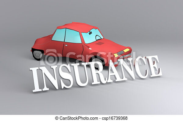 concept of car insurance - csp16739368