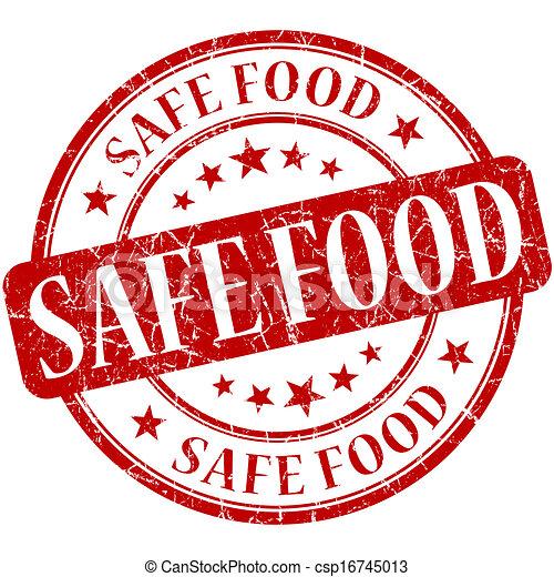Clipart of Safe food grunge red round stamp csp16745013 ...