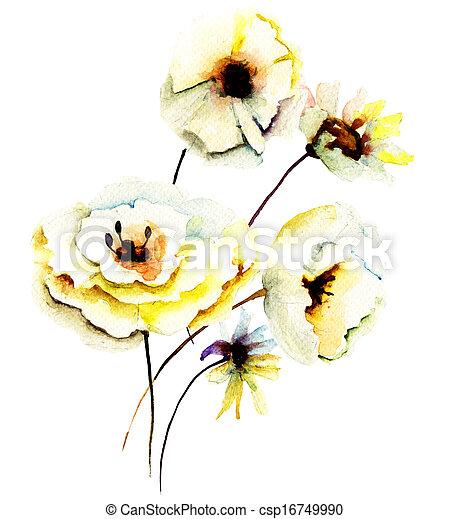 Summer yellow flowers - csp16749990