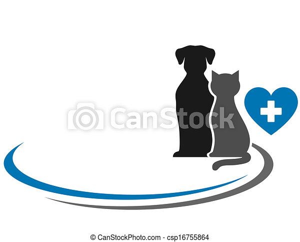 veterinary symbol with blank place - csp16755864