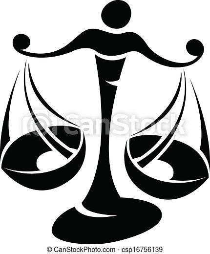Vecteurs de noir balance zodiaque toile signe illustration csp16756139 recherchez - Dessin de balance ...