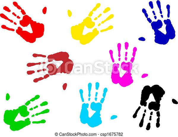 hand prints - csp1675782