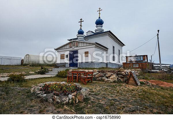 Russian Orthodox Church, Khuzir, Olkhon, Russia - csp16758990