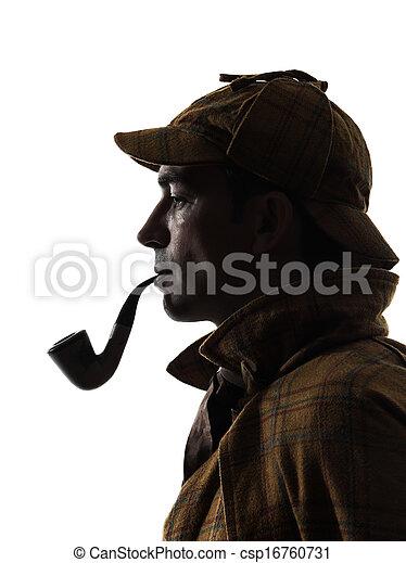 sherlock holmes silhouette - csp16760731