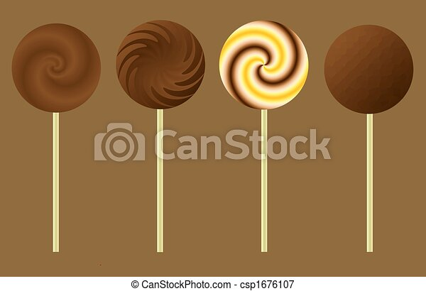 Chocolate Lollipops - csp1676107