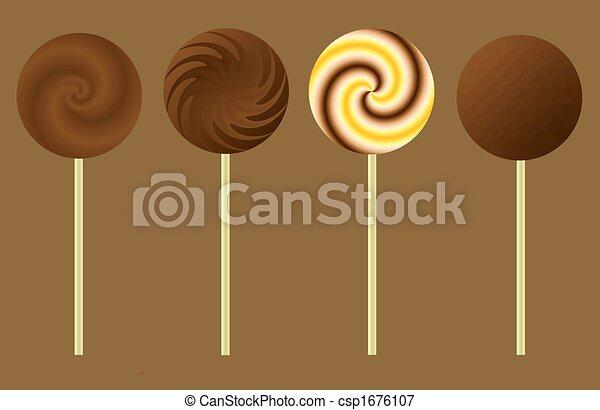 Chocolate Lollipops - csp1676107