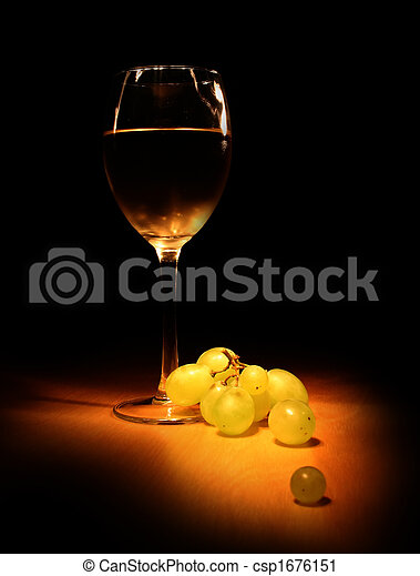 Evening wine still life - csp1676151