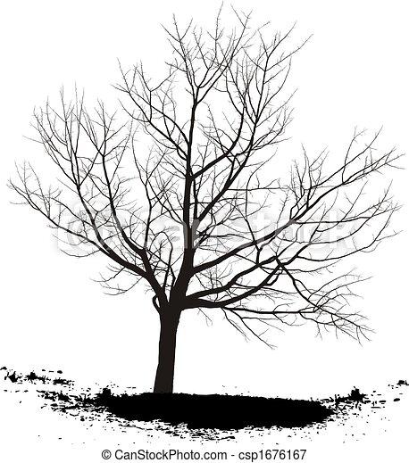 Stock Illustrationen Von Kirschen Baum Silhouette Baum Schwarz Csp1676167