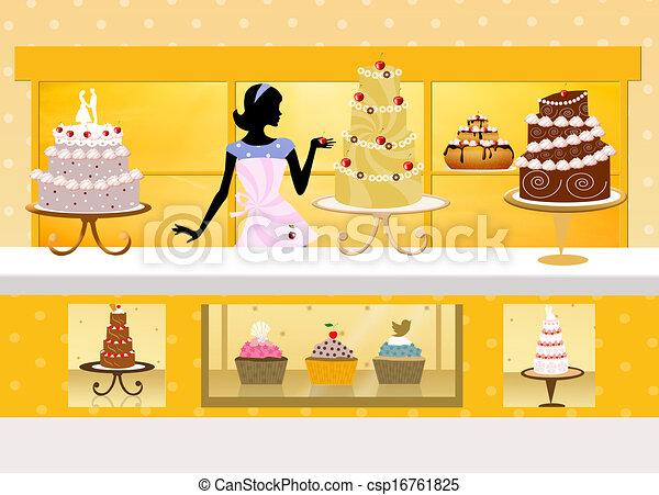 Cake Store Clipart : Clip Art of cake design - illustration of cake shop ...