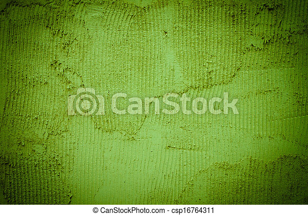 Background texture of a green wall - csp16764311