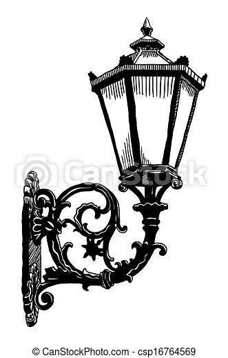 Clip Art Vector Of Ink Drawing Of Vintage Sketch Design