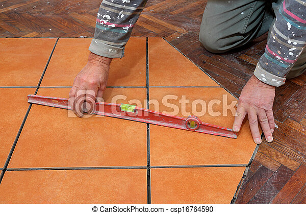 Home renovation tiles - csp16764590