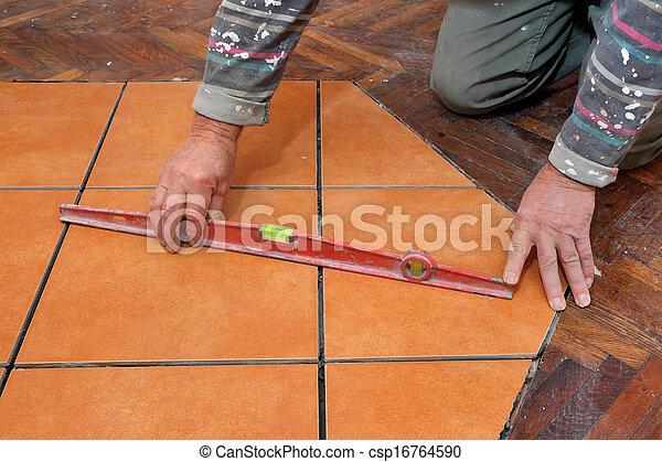Home renovation tiles - csp16764590