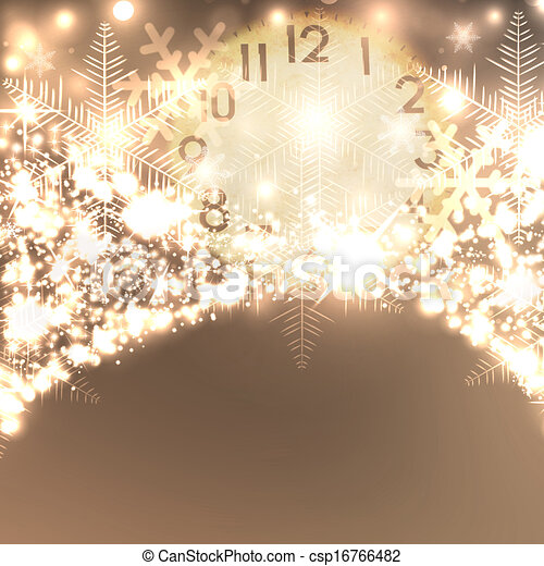 Elegant Christmas background with snowflakes and place for text. - csp16766482