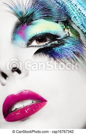 Beautiful woman face - csp16767342