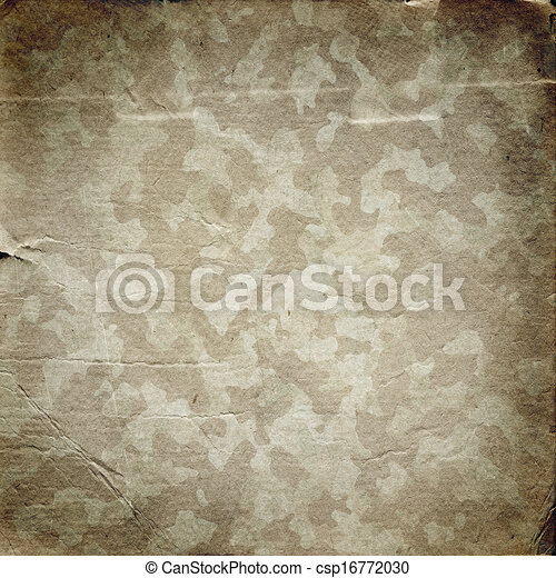 Grunge military background with a texture of paper - csp16772030