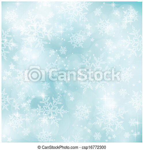 Soft and blurry pastel blue Winter, Christmas pattern - csp16772300