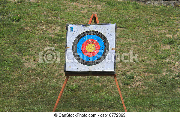 Punctured archery target