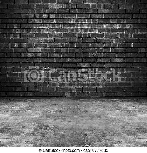 dessins de vieux brique salle fond grungy vieux sombre brique csp16777835. Black Bedroom Furniture Sets. Home Design Ideas