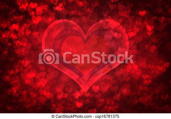 Red glowing Valentine's day background - csp16781375