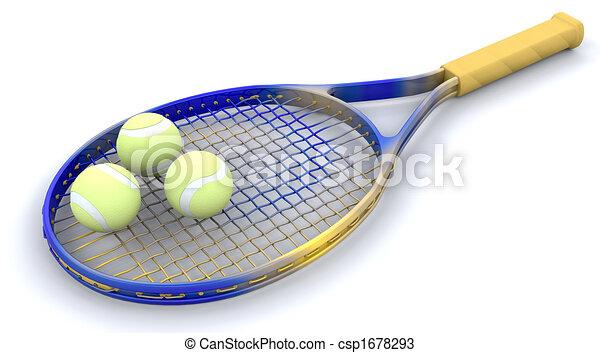 3D Tennis gear  - csp1678293