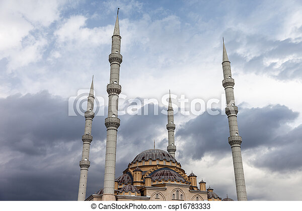 Muslim islam religion Tahtakale Camii mosque in Turkey Manavgat - csp16783333