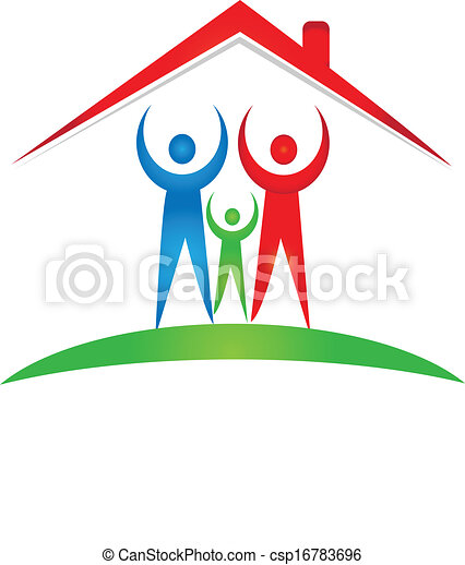 Family and house logo - csp16783696