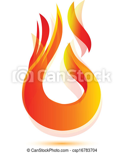 Vector Clipart of Flames and fire logo - Flames and fire abstract ...