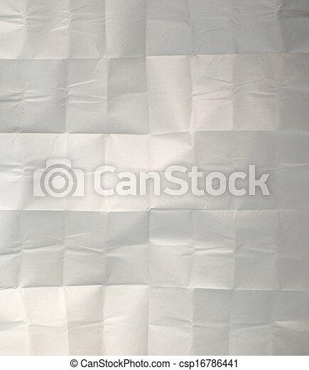 crumpled paper - csp16786441
