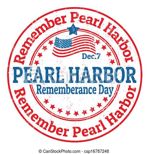 Pearl Harbor Rememberance Day stamp - csp16787248