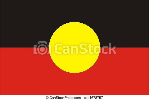 Flag Of aboriginal - csp1678757